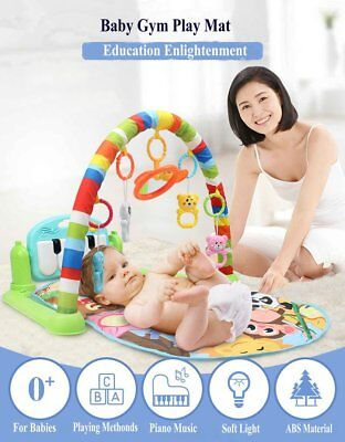 3 In 1 Multifunctional Baby Infant Activity Gym Play Mat Musical Hanging Toys BU