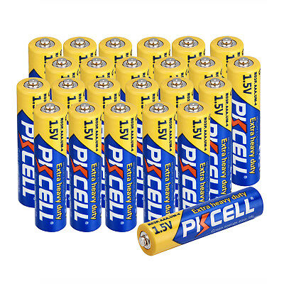 PKCELL 24 pcs AAA Zinc-Carbon Dry Battery 1.5V 3A R03P UM4 Single use Batteries