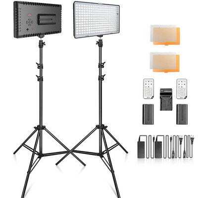2 in 1 TL-240 LED Light Panel Stand Kit Photography Video Studio Lighting Kits
