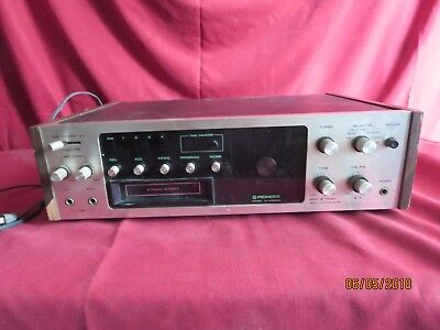 Vintage 1970's Pioneer H-R9000 AM/FM Stereo Reciever 8-Track player powers up