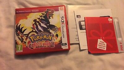 *no Game* Pokemon Omega Ruby Version Case Box & Leaflets Only Nintendo 3Ds 2Ds.