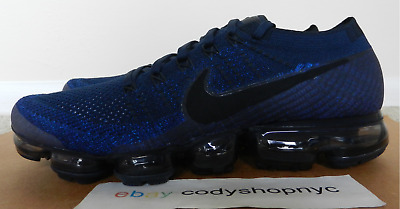 online retailer 76b68 56425 DS NIKE AIR VaporMax Flyknit College Navy Black Royal Running Travis  849558-400