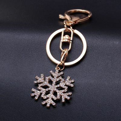 snowflake Keychain Crystal pendant Removable key ring Best Friends Gift