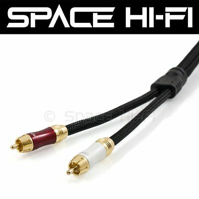 Ultra Premium Stereo RCA Cable High Performance Audio Interconnect 16mm Diameter