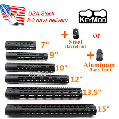 "US 7""9''12"" 13.5"" 15"" KeyMod Handguard Rail Mount Free Float Aluminum&Steel Nut"