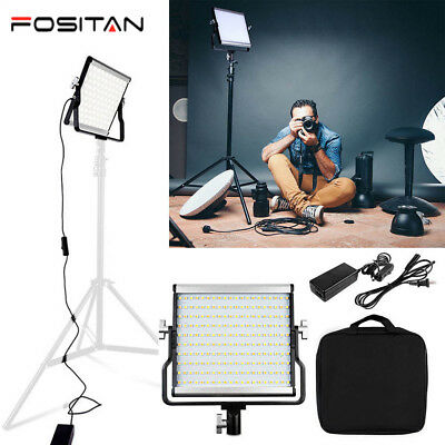 Dimmable Bi-color 200LED Video Light Panel 3200K~5600K Photography Light US SHIP