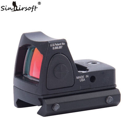 Red Dot Style Sight Scope Tactical Adjustable Rifle Scope Hunting picatinny rail
