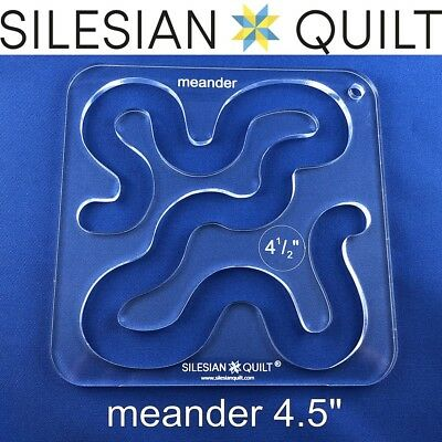 """Template for quilting - Meander 4.5"""" (template fits to FMQ Grip5)"""