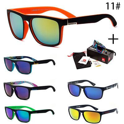 With Box Outdoor QuikSilver Vintage Retro Men Women Sunglasses Eyewear UV400