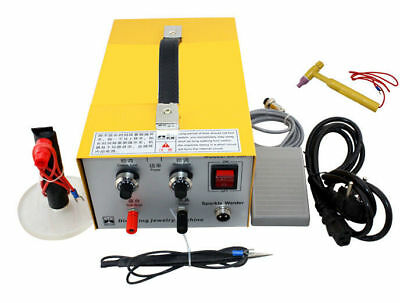 110V 2in1 Pulse Sparkle Spot Welder Gold Silver Platinum Jewelry Welding Machine