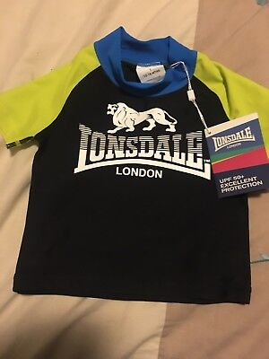 Lonsdale London Baby Swim Top Rashie Brand New With Tags Size 1
