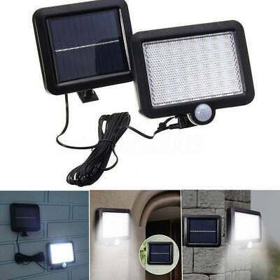 56 LED Solar Powered PIR Motion Sensor Outdoor Garden Light Security Flood Lamp