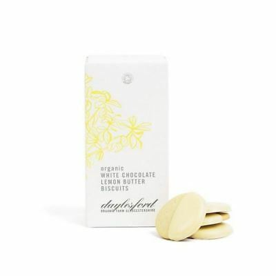 6x Daylesford Organic White Chocolate Dipped Lemon Biscuits 150g