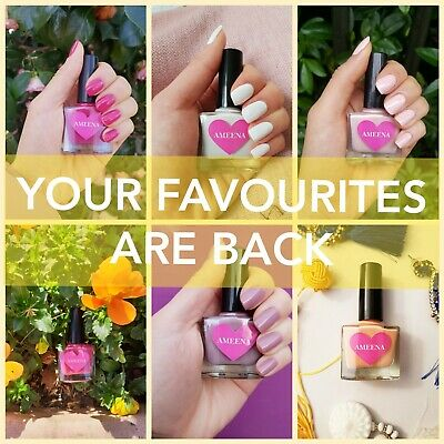 *Ameena* Halal Nail Polish Varnish -Safe Wudhu, Vegan, Water Permeable, No Odour