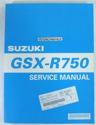 Suzuki Gsx-R 750 Y K1 K2 K3 Manual Workshop Book Repair  Werkstatthandbuch En