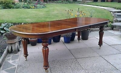 Victorian Large Extending Mahogany   D End Dining Table