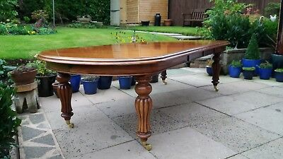 Mahogany Very Large Extending Victorian Wind Out D End Dining Table