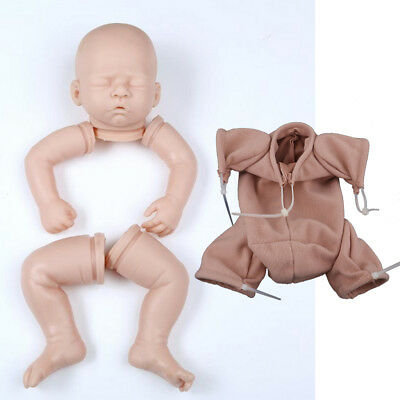 "Silicone 20"" Reborn Kits - Unpainted Full Limb Mold & Cloth Body - Baby Doll"