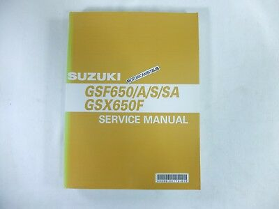 Suzuki Gsf650 Bandit Gsx 600 F Manual Workshop Repair Manuel D Atelier Book