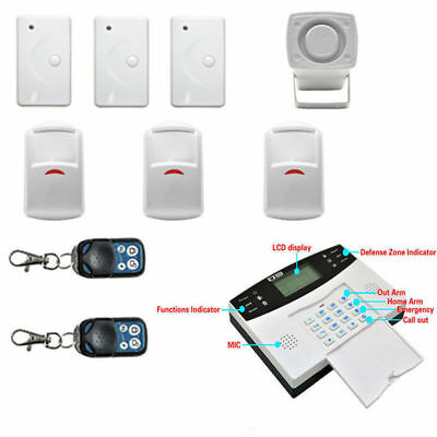 Wireless Smart GSM+LCD+2G Home Security Burglar Door Alarm System Motion NEW USA