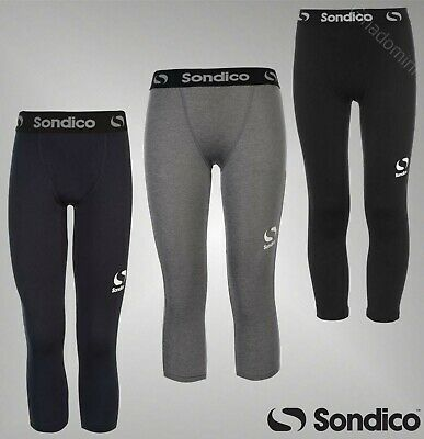 Boys Sondico Compression Core Three Quarter Base Layer Tights Sizes Age 7-13 Yrs