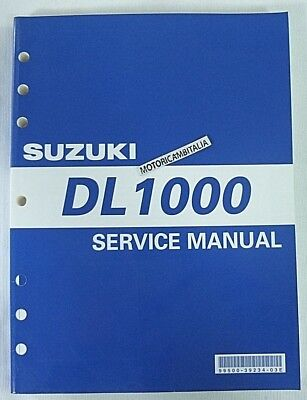 Suzuki Dl1000 V Strom  Manual Workshop Repair Manuel D Atelier Werkstatthandbuch