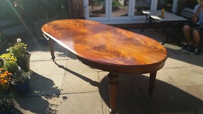 Mid Victorian Large Extending  Flame Mahogany  Wind Out  Dining Table