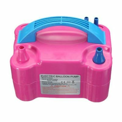 Electric Balloon Inflator Pump Portable High Power Two Nozzle Air Blower