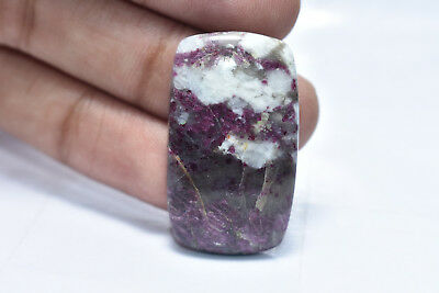 55.30 Ct. Natural Lepidolite Rectengal Cabochon 33X20X6 Mm Loose Gemstone A-658