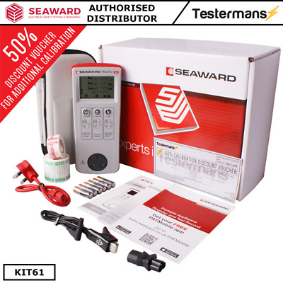 Seaward Primetest 100 Pat Testeur Kit61 W/Accessoires, Calibrage & Software
