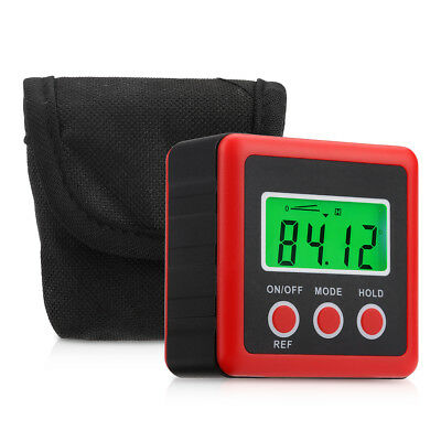 Portable Digital Bevel Box Gauge LCD Display Angle Finder Protractor with Bag