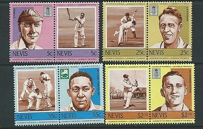 Nevis Sg211/8 1984 Cricketers Mnh