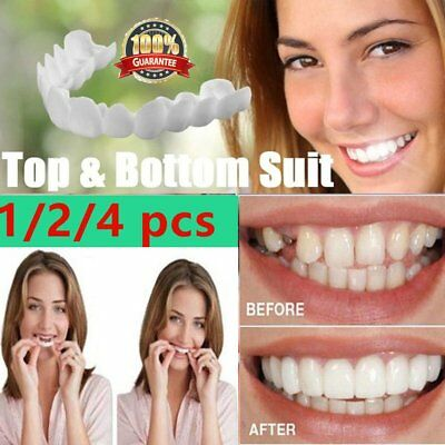 Fake Tooth Cover Snap On Silicone Perfect Smile Veneers Teeth Upper Q3