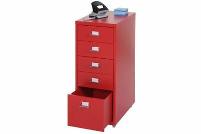 Rollcontainer Stahlschrank Container Rollcontainer Schubladencontainer Rot Stahl