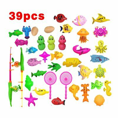 39/15/27 Pieces Magnetic Fishing Toy Fishing Learning Education Play Set K2