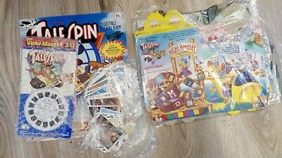 RARE TaleSpin 3D View Master + Panini stickers