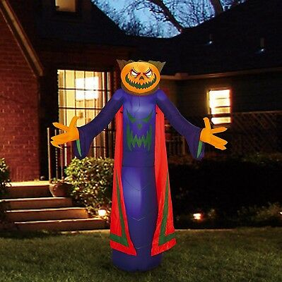 8ft Decor Outdoor Halloween Airblown Inflatable Pumpkin Ghost Decorations Yard