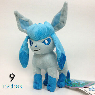 Pokemon XY Glaceon Plush Soft Toy Character Stuffed Animal Doll Teddy 9""