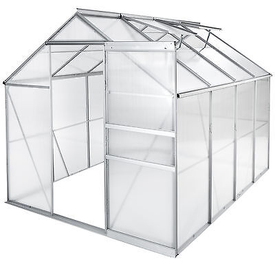 Greenhouse polycarbonate aluminium grow plants growhouse garden structure 7.6m³