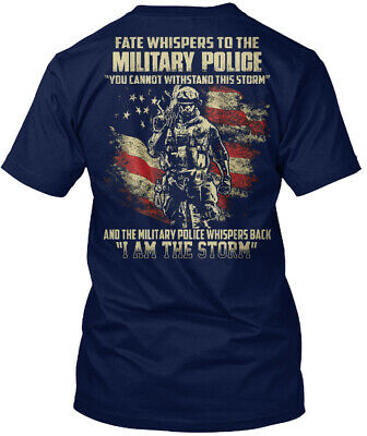Military Police I Am The Storm Hanes Tagless Tee T-Shirt