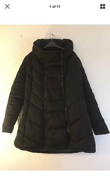 Next Black Maternity Coat Size 12 - Removable Panel Included
