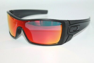 a8459b4245 Oakley Batwolf Sunglasses OO9101-38 Matte Black Ink Frame W  Ruby Iridium  Lens