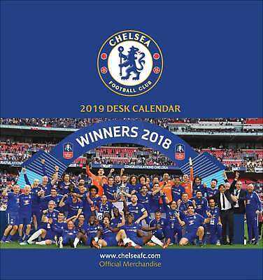 Chelsea FC Easel Calendar 2019 Sports Month To View