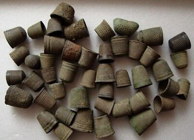 A great lot of vintage authentic medieval thimbles for sewing.1400-1700 years.