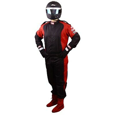 Scca Fire Suit 1 Piece Elite Sfi 3.2A/1 Black  / Red Xl Rjs Racing
