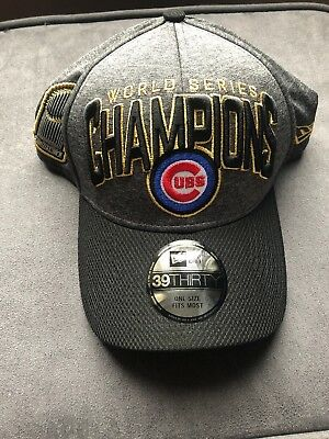 Chicago Cubs 2016 Official Locker Room World Series Hat Cap New Era 39THIRTY 1a38b79b1d8