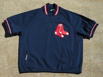 Vintage Boston Red Sox Majestic Warm Up Jersey Size XL Men Made In USA Read