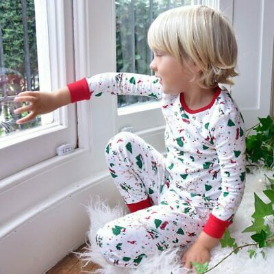 Christmas Pyjamas/Pajama 100% Soft Jersey Cotton  Age 1-2, 2-3,4-5, 6-7, 8-9