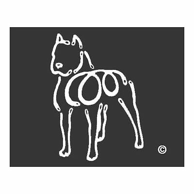 American Bulldog K-Lines Dog Car Window Tattoo Decal Sticker