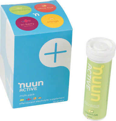 New Nuun Active Hydration Tablets: Original Mixed Pack Box of 4 Tubes